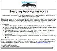 Funding-Application